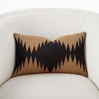 Tristan Pillow-Gold Seed Beads/Black-19  x 12