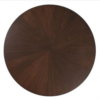 Flute Table Top-Round-Walnut-48