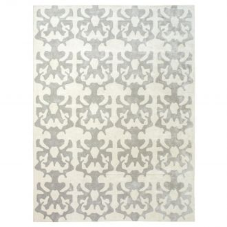 Ink Blot Rug-Beige/Grey