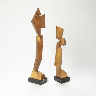 Facet Sculpture-Gold