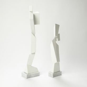Facet Sculpture-White