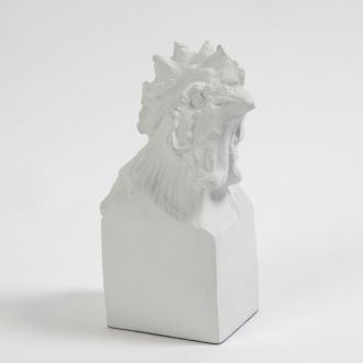 Rooster Head-Matte White