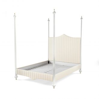 Flute Bed - King - Cream