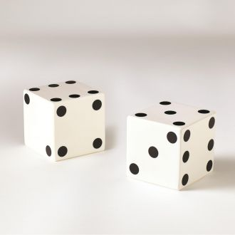Pair of Dice-White w/Black Dots