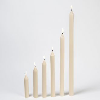 S/4 Taper Candles-Unscented-1  x 22