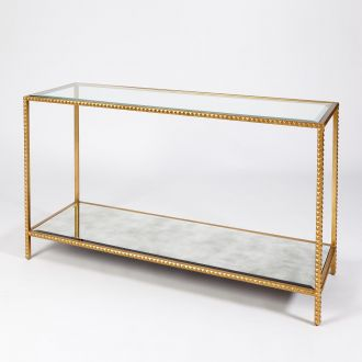 Stud Console Table-Gold Leaf