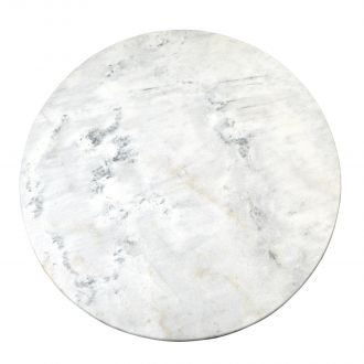 Flute Table Top-Round-White Marble-48