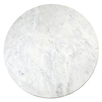 Flute Table Top-Round-White Marble-60