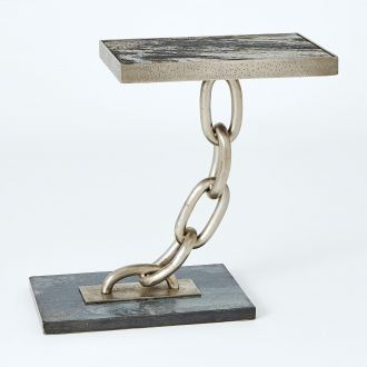 Link Side Table-Silver