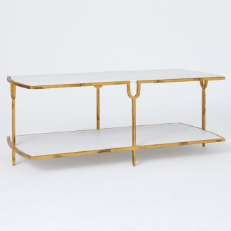 Curve Cocktail Table-Gold