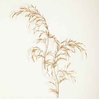 S/2 Weeping Willow Wall Decor-Gold Leaf