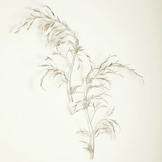 S/2 Weeping Willow Wall Decor-Silver Leaf