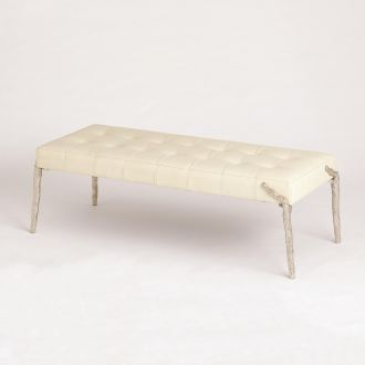 Bristol Branch Bench-Milk Leather