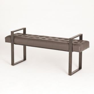 Dakota Bench-Graphite Leather