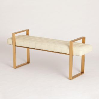 Dakota Bench-Milk Leather