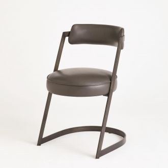 Geo Chair-Graphite Leather